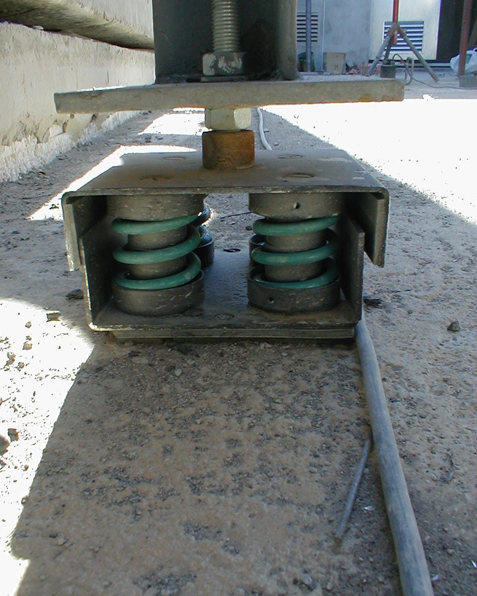 soportes antivibratorios muelle